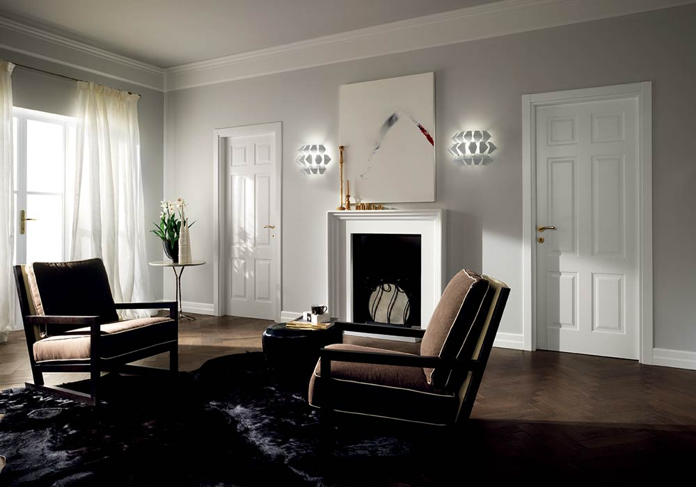 Collezione porte garofoli mirabilia di luca infissi for Interni case bianche